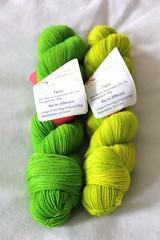 WM Grun 2 (MisoCraftyKnits) Tags: green wool superwash knitting twin yarn german wasabi wd nylon fruehling grun wollmeise