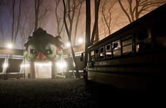 off the bus and into class (tomms) Tags: longexposure carnival toronto film night movie 3d horror amusementpark adventureland cherrybeach silenthill