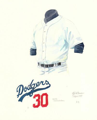 los angeles dodgers uniform. LA Dodgers 1977 uniform