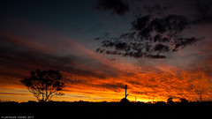 Burning Desires (Lockie Cooke) Tags: sunset sky west colour canon farm country brisbane burning qld fullframe 1740mm anstead arfternoon 5dmkii lockiecooke