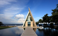 Chapel (A Sutanto) Tags: blue wedding sea sky bali beach clouds indonesia island hotel asia infinity south perspective chapel resort conrad nusadua tanjung benoa