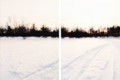 二曲一双 (peco_Junko) Tags: pink white snow black 35mm suomi finland silent crossprocess lapland