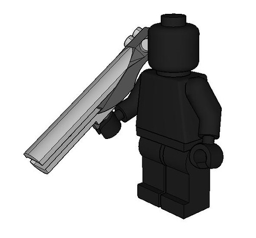 Custom minifig Railgun with Minifigure