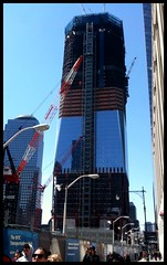 Freedom Tower progress 8.0 (La Femme Architecte) Tags: nyc building architecture construction 911 wtc groundzero lowermanhattan glassbuilding freedomtower