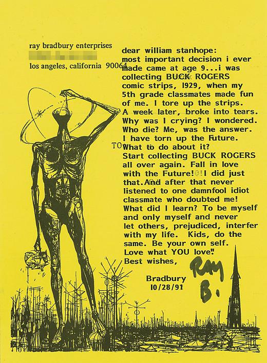 Carta de Ray Bradbury