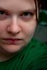 114/365 - Stare (acousticgirl) Tags: selfportrait 35mm nikon sb600 photek apieceofme heterochromia d90 365days 365selfportrait 365project nikond90 softlighterii