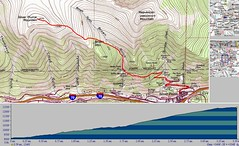 Silver Plume Mountain SE Ridge TOPO & Elevation Profile