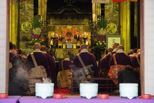 Monges budistas en Kioto