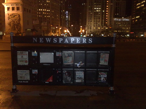 chicago tribune newspaper. Newspaper box (Chicago Tribune