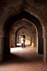 Delhi: Lodhi Gardens: Bara Gumbad, or Big Dome (kaydeesquared) Tags: portrait india architecture delhi tomb arches february rajasthan lodi lodhigardens 2011 archaeologicalsurveyofindia baragumbad bigdome