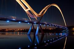 Blue Infinity (101/365) (Debbie Stogden Photography) Tags: bridge reflections river tees stocktonontees infinitybridge debbiestogden