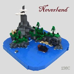 Neverland (2 Much Caffeine) Tags: lego pirates peterpan micro neverland skullrock moc youcanflyyoucanflyyoucanfly secondstarontherightandstraightontilmorning