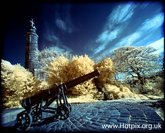 The Canon, Calton Hill, Edinburgh Scotland Colour Infra Red (Hotpix [LRPS] Hanx for 1.5M Views) Tags: city red hot color colour ir see scotland edinburgh pix carlton pics hill capital smith tourist tony infrared what infra hdr false calton edimburgh hotpix scotlands edinburghphotography tonysmithhotpix hotpixcom