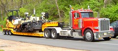 Peterbilt with paving equipment (jack byrnes hill) Tags: truck peterbilt lowboy carhauler heavyhauler worldtruck