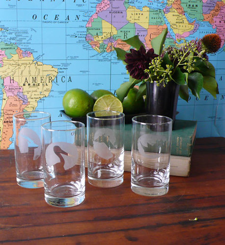 DIY Project: Animal Cameo Highball Glasses