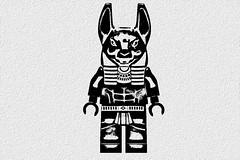 [234/365] Anubis (pasukaru76) Tags: blackandwhite lego anubis canon100mm pharaohsquest minifig365