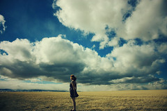 (Jessica Neuwerth (Fearless)) Tags: blue portrait sky selfportrait girl clouds self skies cloudy lovely itsme imquittingmy52weeksproject becauseitsmademehatephotographyandmyselfabitaswell andimsickofdraggingmyselfouteverysundaytryingtodredgeupsomecreativityasifatgunpoint