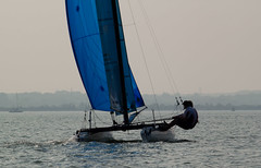 IMG_7034 (tom0r3) Tags: water club canon easter eos slam sailing sunday moth grand racing catamaran solent southampton skiff trapeze weston dinghy asymmetric 500d t1i tom0r