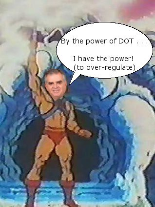 DOT Channels He-Man, Overregulates