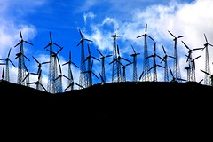 Desert Fan (Ru Tover) Tags: blue desert wind fans windturbines allxpressus