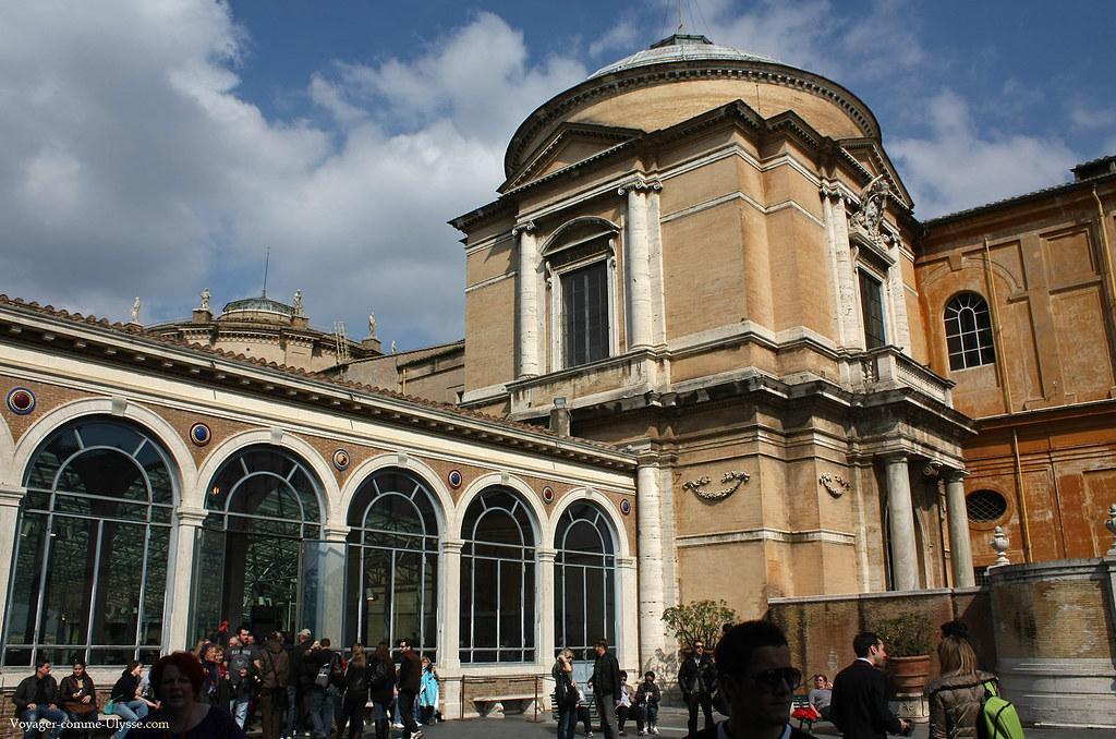 L'entrée des musées du Vatican