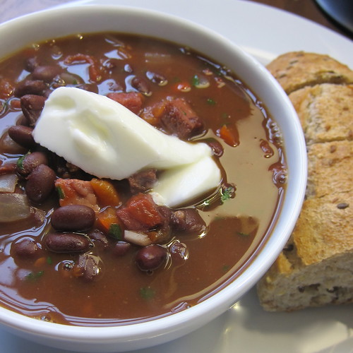 Cuban Black Bean & Ham Soup