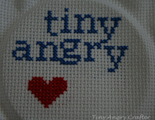 tinyangry cross stitch