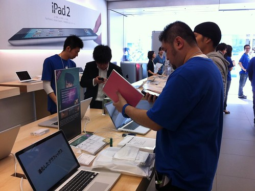 iPad2@AppleStore銀座