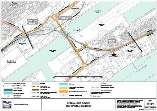 Connaught Tunnel  schematic