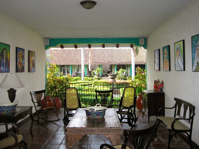 hotel leon nicaragua family friendly el convento sitting area