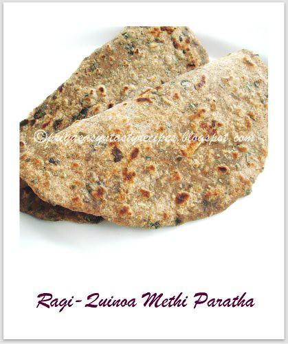 Ragi-Quinoa Methi Paratha