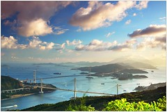 (Ky.Lo) Tags: china city bridge sea urban hk mountain seascape landscape hongkong harbor nikon asia cityscape harbour hill east hong kong   tsingmabridge tsingyi  tingkaubridge  hksars