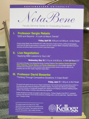 Nota Bene activities for Class of 2011