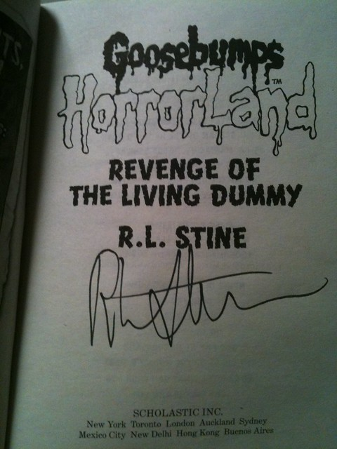 RL Stine Signature