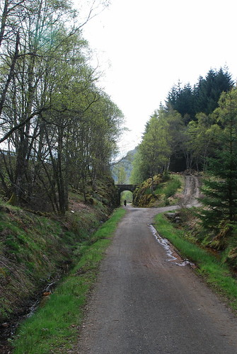 Riding along the old railway, Glen Ogle