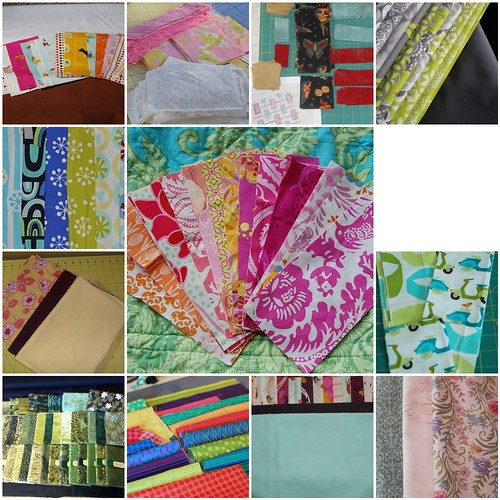 Your fabric choices for the Mod Times Quilt Along