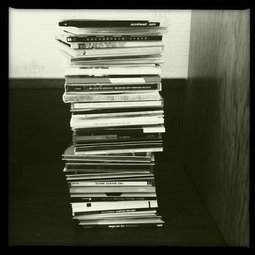 Pile of giveaway CDs