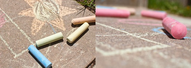 chalk collage