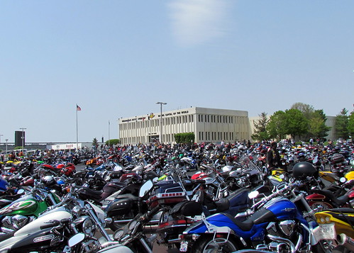 A sea of two- wheel rides