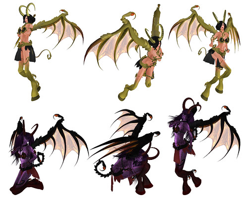 some poses of the demoness ao