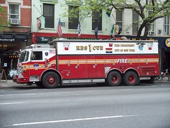 FDNY - Rescue 1 - 5-2-11 (FDNY8231) Tags: new york city nyc rescue usa ny tower truck fire 1 4 911 engine nypd company mat ferrara ladder emergency firefighter 54 fdny department siren tiller dept seagrave response haz responding code3