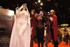 Ghost, Scarlet Witch, Mister Sinister, Wiccan (BelleChere) Tags: costume comic cosplay ghost marvel wiccan darkhorse scarletwitch c2e2 mistersinister