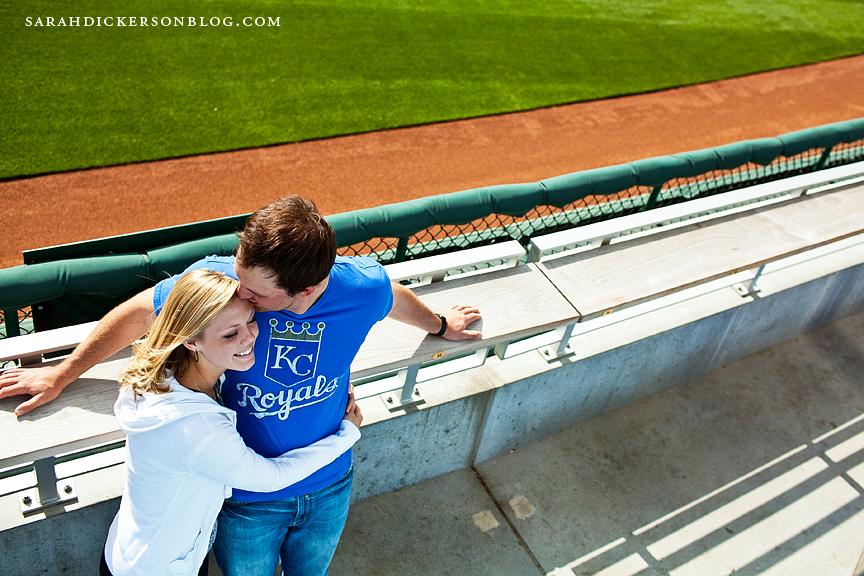 Kauffman Stadium engagement session