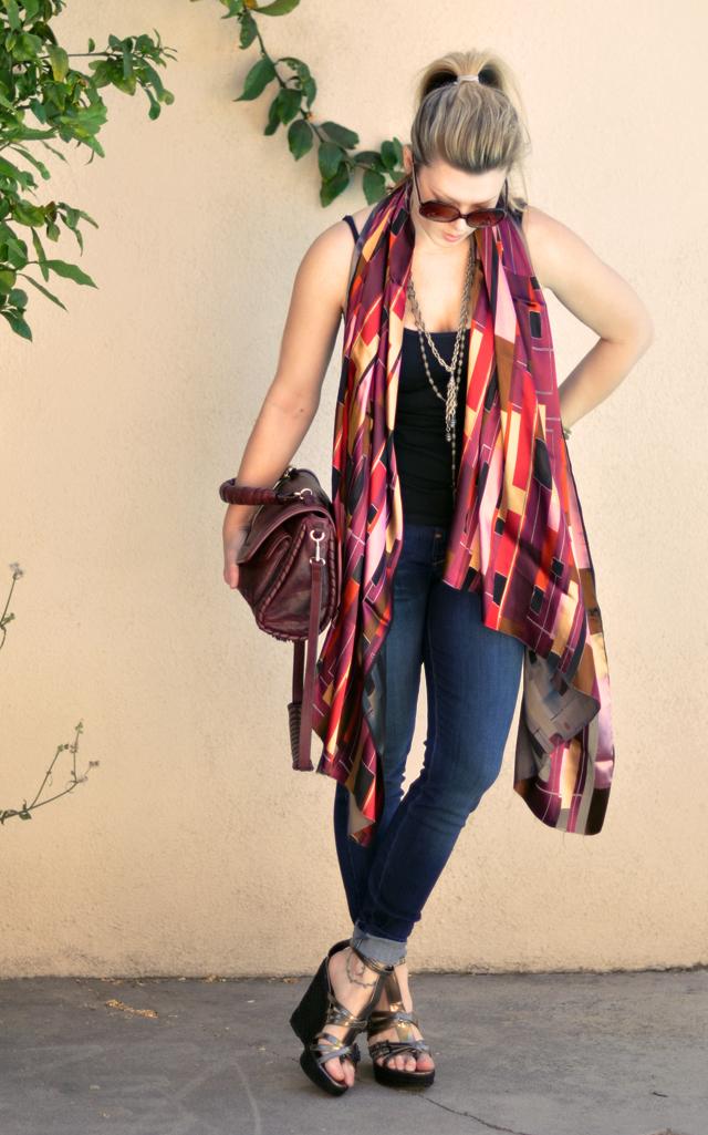 diy scarf to shawl