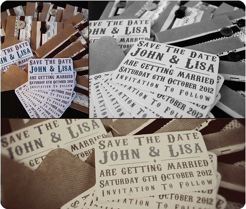 As promised here are our Save The Date cards We finally finished them last