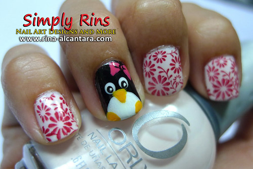 Nail Art Penguin 05