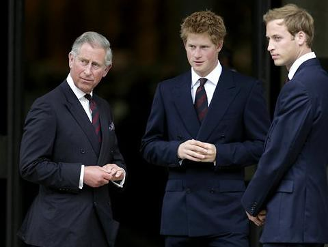 Principes de Inglaterra: Carlos, William y Harry
