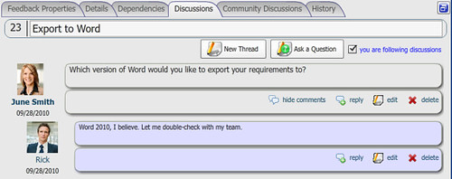 Business collaboration - discussion forums