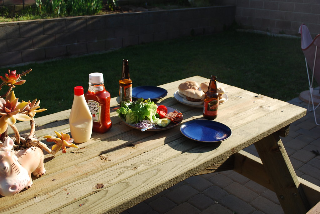 New Picnic Table & Turkey Burgers
