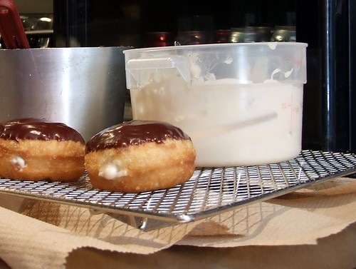 Vegan Boston Cream Donuts